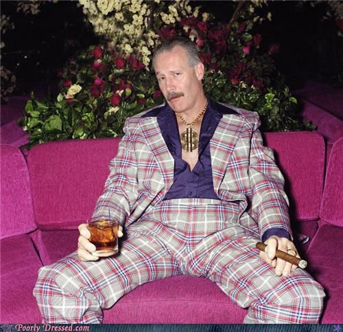 Bling flannel gangster leisure suits plaid suit