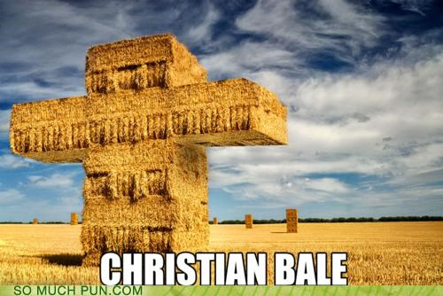 bale,christian,christian bale,cross,double meaning,Hall of Fame,hay,literalism,symbol
