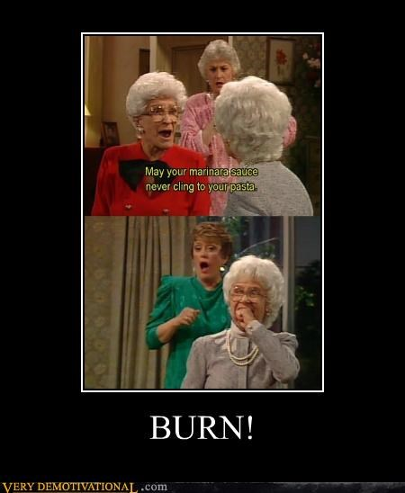 burn golden girls hilarious marinara pasta