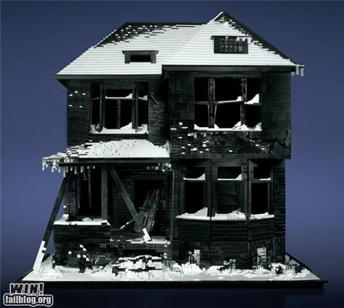 architecture art creepy decay Hall of Fame house lego sculpture - 5259824384