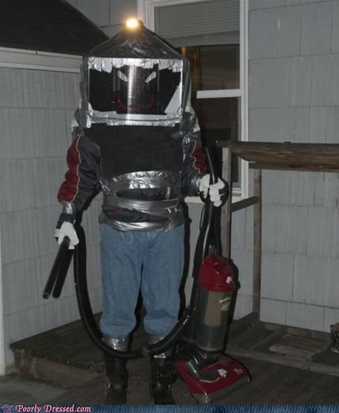 too much duct tape,vacuum costume,vacuum-man