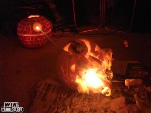 carving Death Star halloween nerdgasm pumpkins star wars - 5260111360