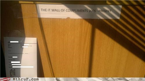 compliments,feedback,it,wall of compliments