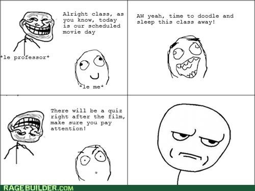 are you kidding me Movie quiz Rage Comics school - 5260979712