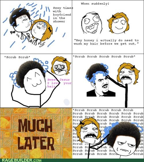 hair,Rage Comics,relationships,scrub,wash