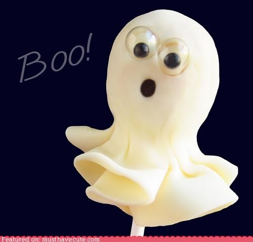 cute epicute food ghost googly eyes halloween pop scared - 5261801984