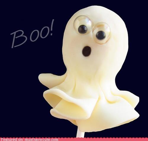 cute epicute food ghost googly eyes halloween pop scared - 5261801984