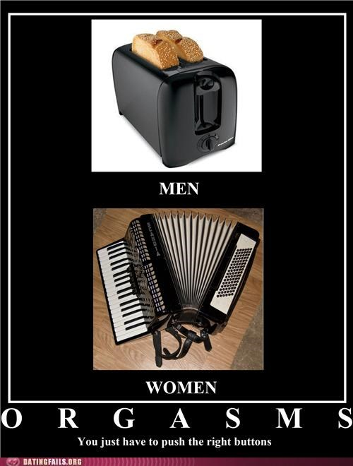 accordion,buttons,men and women,orgasm,toaster,We Are Dating,women and men