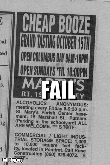Ad,alcohol,classic,failboat,g rated,juxtaposition,newspaper