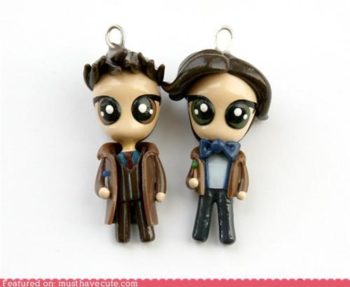 best of the week charm cute David Tennant doctor who ginger Matt Smith pendants - 5263198208