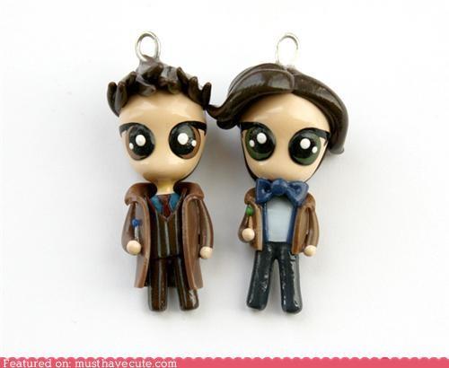 best of the week charm cute David Tennant doctor who ginger Matt Smith pendants - 5263198208