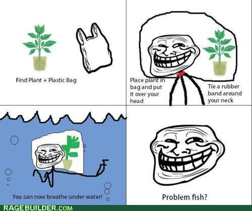 best of week,breathing,plant,plastic bag,Rage Comics,underwater