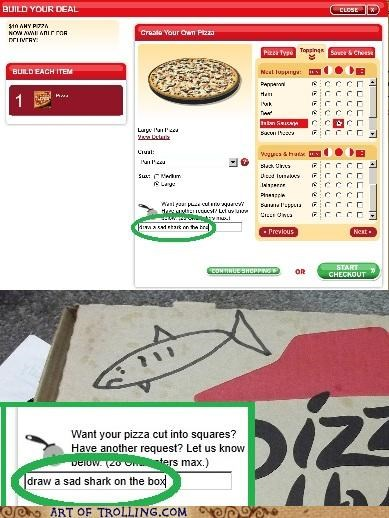 box,cute,draw,IRL,pizza,shark