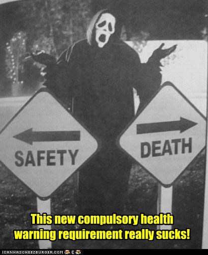 Death ghostface health safety scary movie warnings - 5263954944