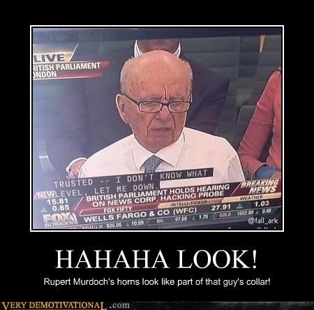 collar,hilarious,horns,Rupert Murdoch