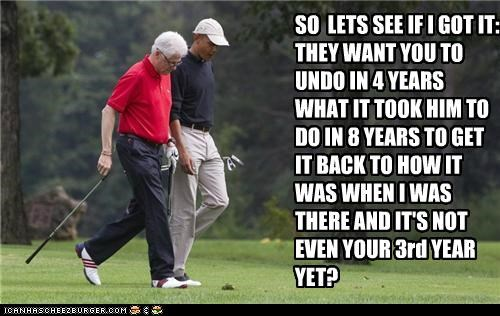 barack obama,bill clinton,golf,political pictures
