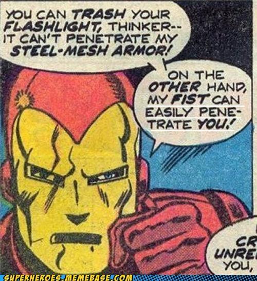 flashlight iron man Straight off the Page - 5265876736