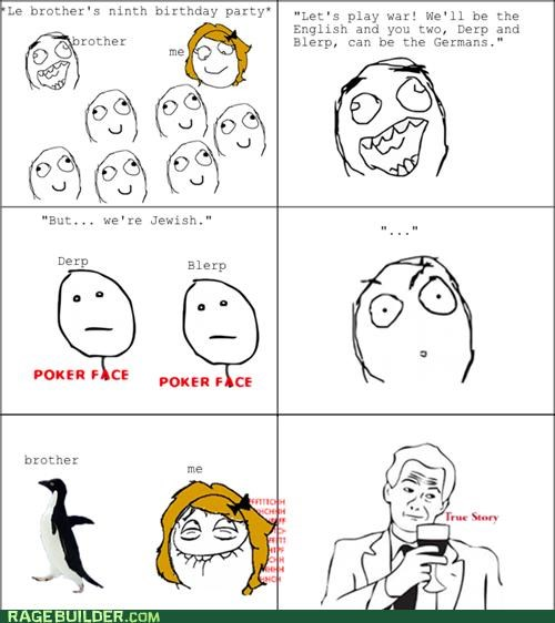jewish Rage Comics socially awkward penguin true story