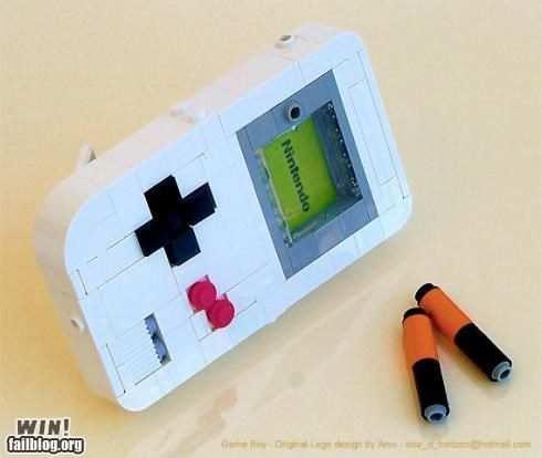 DIY,gameboy,lego,modification,nerdgasm,video game