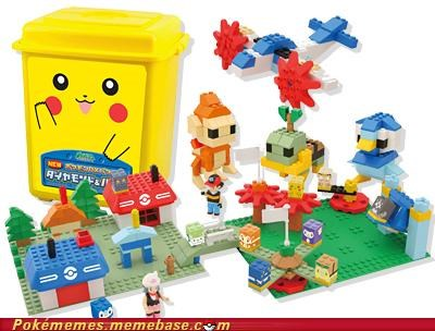 awesome gotta build em all lego pikachu toys toys-games want