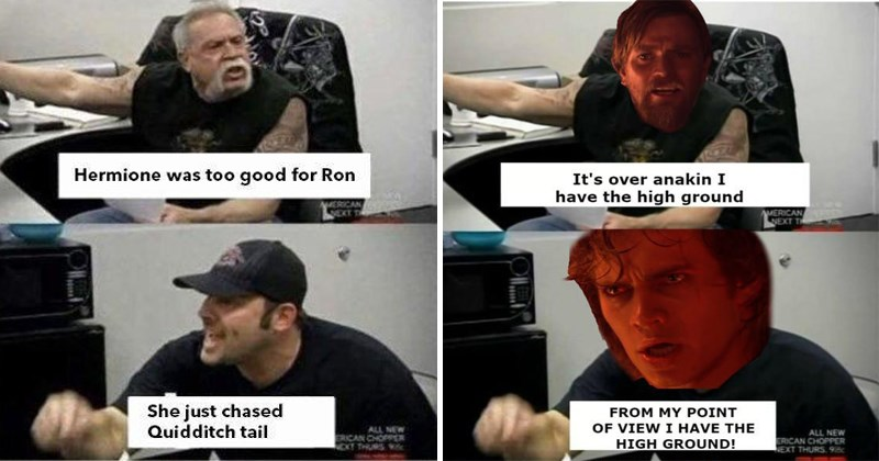 star wars anime Memes American Chopper funny - 5266949