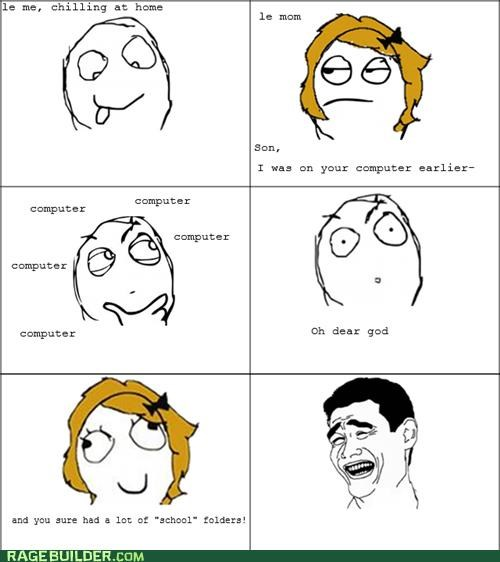 computer folder mom pr0ntimes Rage Comics - 5267522816