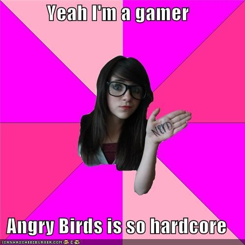 angerbirds angry birds eggs Idiot Nerd Girl stars Videogames