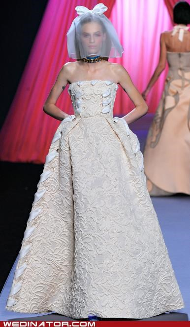 bridal couture,funny wedding photos,pretty or not,viktor and rolf,wedding couture,wedding dress,wedding fashion
