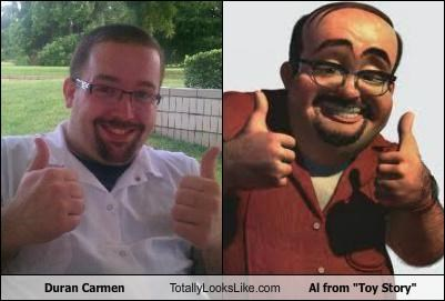 animated,animation,cartoons,glasses,Movie,mustache,mustaches,random guy,random person,thumbs up,toy story