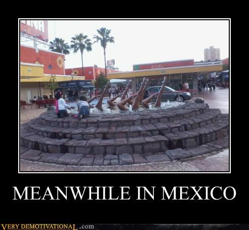 dancing,fountain,hilarious,Meanwhile,mexico