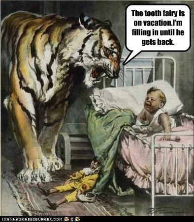 animals baby crying baby filling in historic lols kid on vacation tiger tooth fairy vintage vintage art