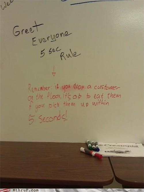 customer service,customers,five second rule,graph,whiteboard