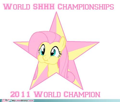 fluttershy never lost ponies shhh champions world champion - 5268288512