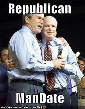 george w bush john mccain president Republicans - 526872832