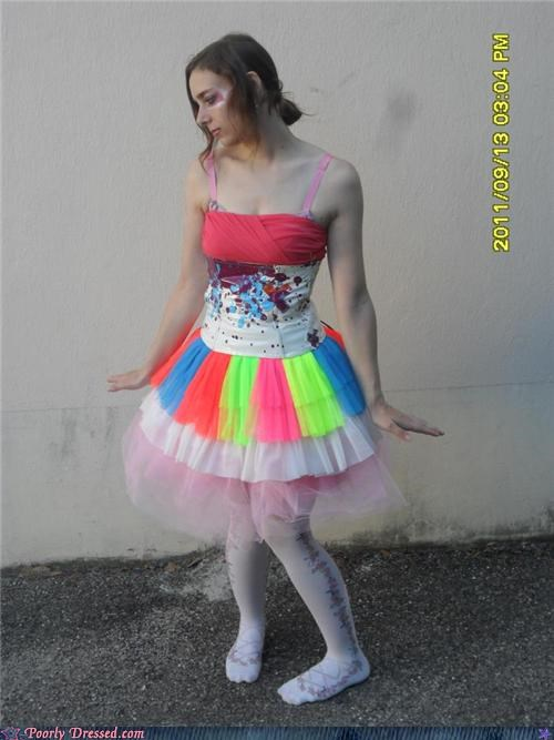 colors,dress,face paint,neon,tutu