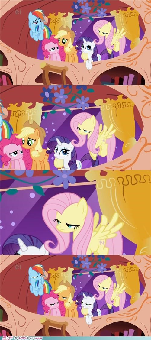 does not approve fluttershy mane six meme Reframe - 5269100800