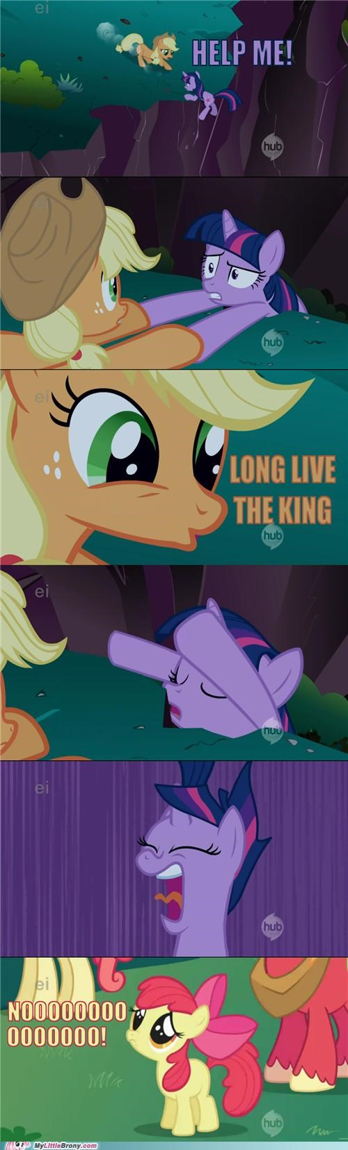 applejack,best of week,comic,comics,help me,lion king,Sad,twilight sparkle