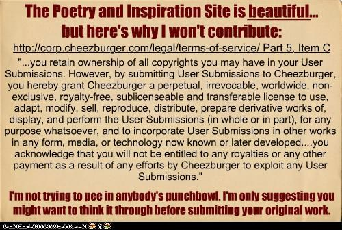 The Poetry and Inspiration Site is beautiful...but here's why I won't contribute
