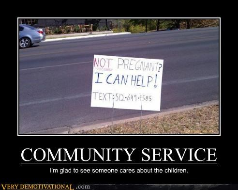 community service,hilarious,pregnant