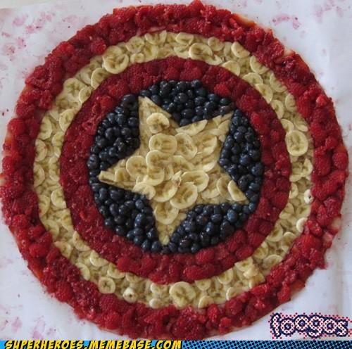 captain america food fruit Random Heroics sheild - 5269297664