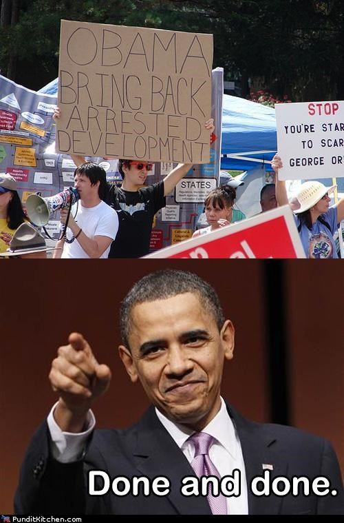 arrested development,barack obama,political pictures