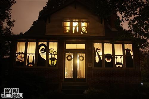 decoration design halloween home house recycle repurposed silhouette spooky - 5269554432