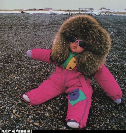 arctic baby beach bundled up clothing coat Parenting Fail parka