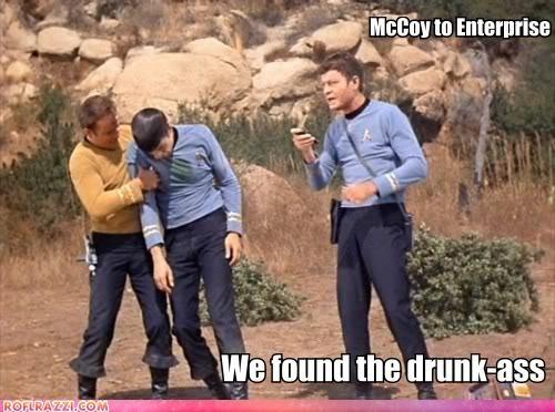 actor celeb DeForest Kelley funny Hall of Fame Leonard Nimoy Star Trek TV William Shatner - 5269821440