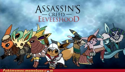 art,assassins creed,best of week,brotherhood,crossover,eevee