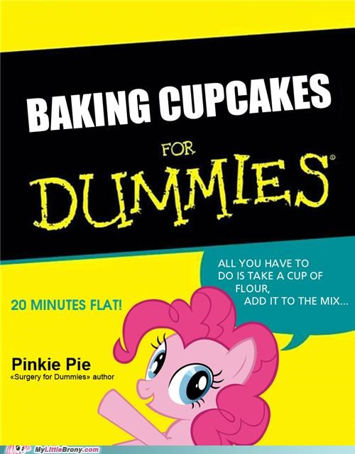 20 minutes flat baking cupcakes crossover cupcakes for dummies pinkamena diane pie pinkie pie - 5269925376