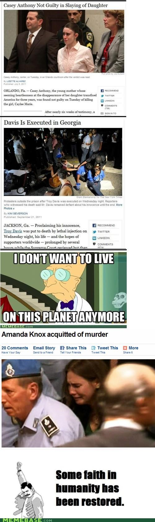 Casey Anthony,faith,guilty,humanity,i dont want to live on this planet anymore,Reframe