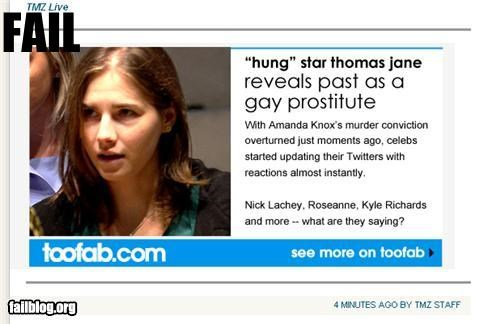 Amanda Knox,failboat,headline,innuendo,Probably bad News