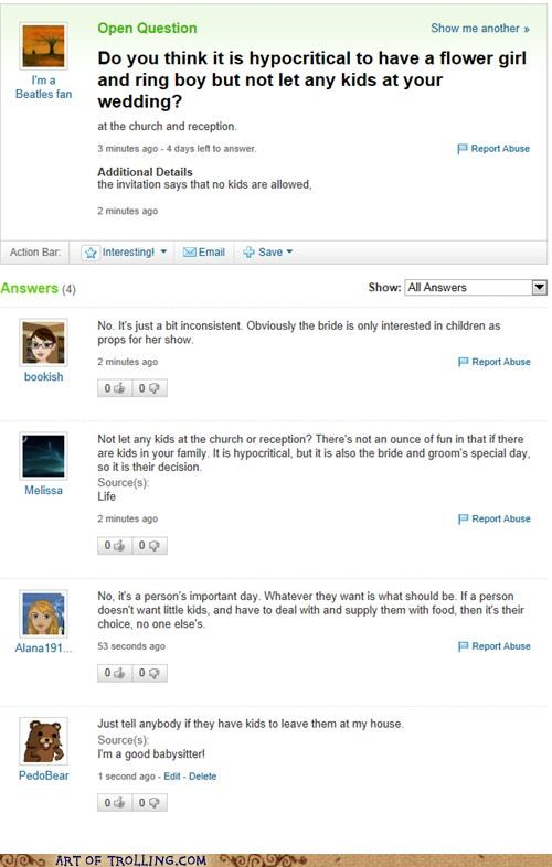 kids pedobear wedding Yahoo Answer Fails - 5270087168
