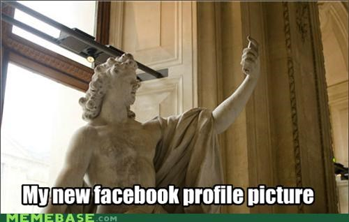 facebook greek Memes myspace picture profile statue - 5270127104